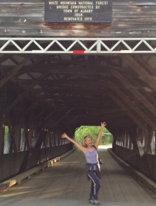 Playing with H covered bridge in NH